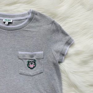 Kenzo Tiger Crest Embroidered Pique Cotton T-Shirt